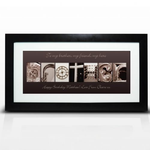 Personalised Affection Art Brother Large Frame